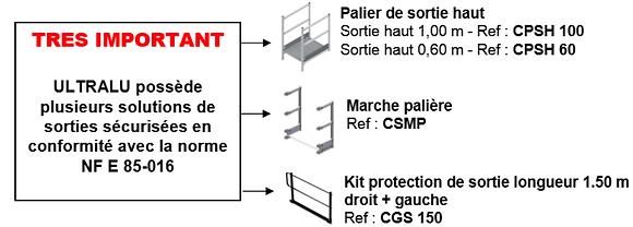 Module de base simplifié : échelle à crinoline