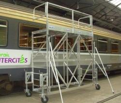 Echafaudage maintenance trains
