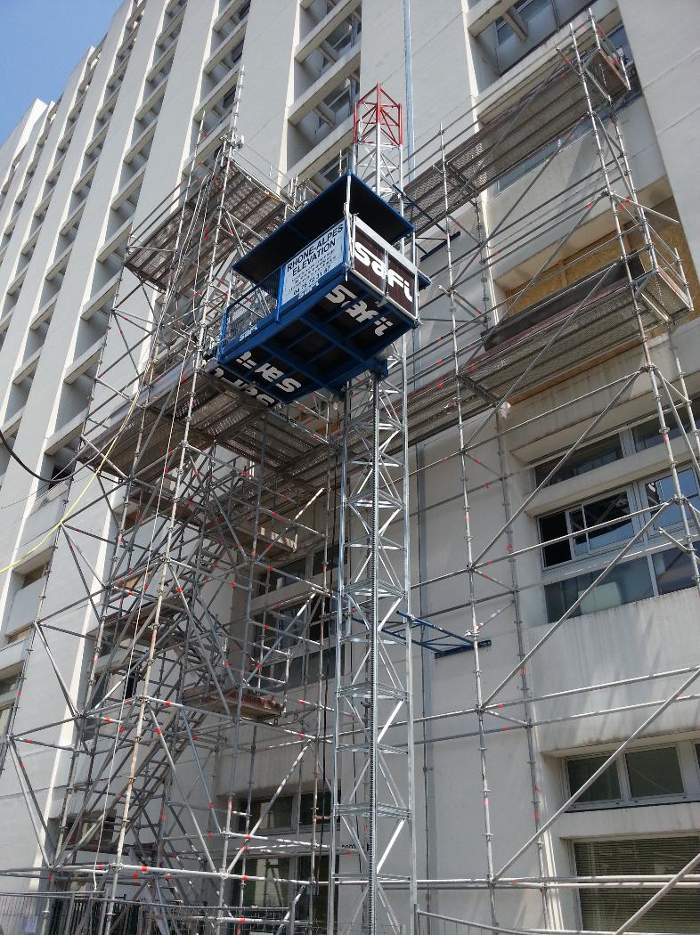Escalier de chantier - Hôpital Nord