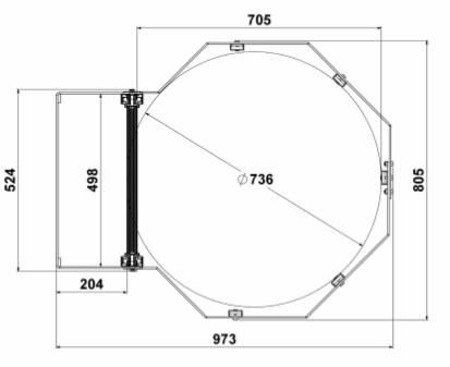 Echelle Crinoline   Hauteur 1.70 M A 2 M.   Echelle Crinoline Livrée Avec  Portillon Automatique, Pattes De Fixation, Feuille De Composition Et Notice  De ...