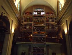 Eglise St Louis - Echafaudage orgue