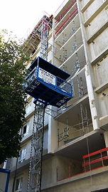Location avec montage monte-matériaux, ascenseurs de chantier, Safi, Rhône-Alpes Elévation