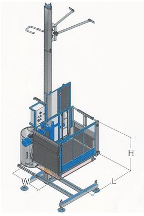 Monte-matériaux / ascenseur SAFI Junior 600 kg