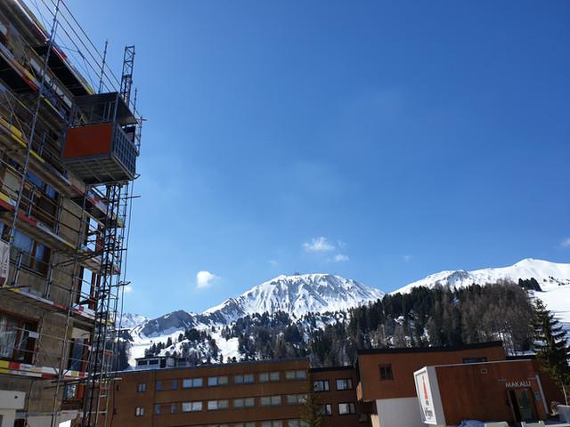 Lift de chantier La Plagne - Alimak TPL
