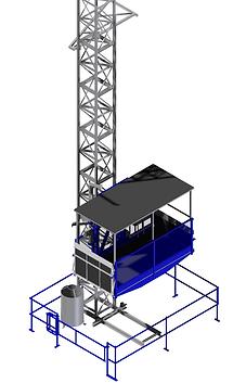 RAE LIFT - Monte-matériaux ascenseur de chantier SAFI Zenith 1500