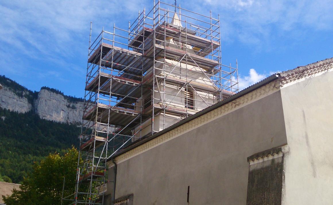 Eglise de St Julien en Vercors - Echafaudage.png