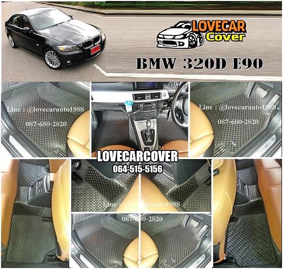 ผ้ายางกระดุมใหญ่ EVA สีดำ ฺBMW 320D E90