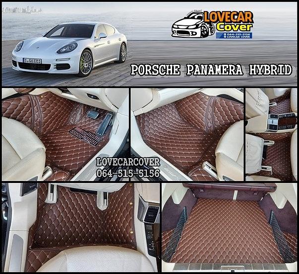 พรมรถยนต์ 6D สีกาแฟ Porsche Panamera Hybird 2007