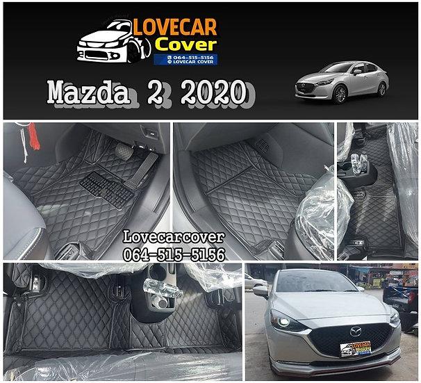 พรมรถยนต์ 6D สีดำล้วน Mazda 2 2020