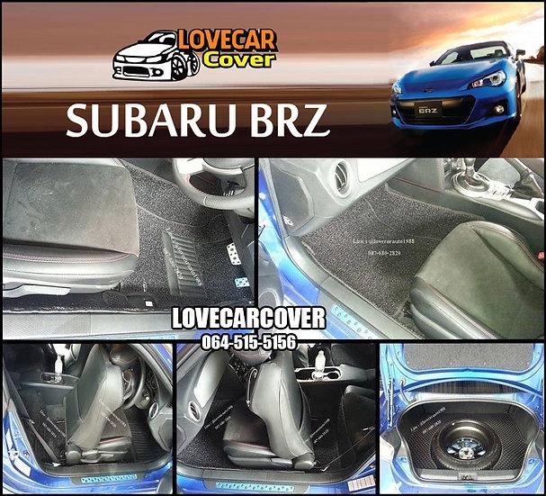 พรมดักฝุ่นรถยนต์ (พรมไวนิล) สีดำ SUBARU BRZ