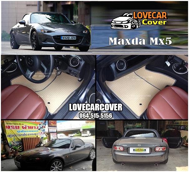 ผ้ายางลายธนู EVA สีครีม Mazda Mx5