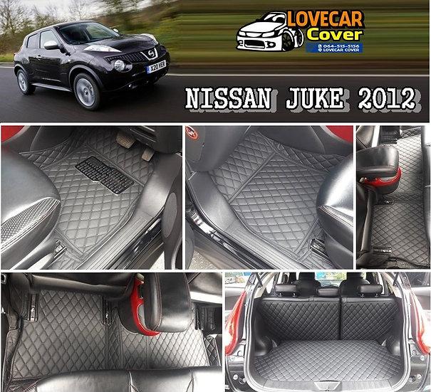 พรมรถยนต์ 6D สีดำล้วน Nissan Juke 2012