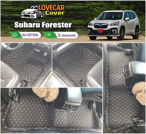 พรมรถยนต์ 6D สีดำด้ายครีม Subaru Forester