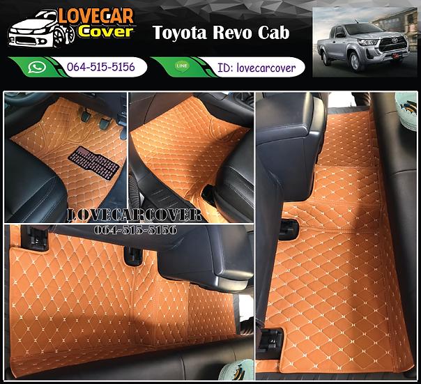 พรมรถยนต์ 6D สีน้ำตาลอ่อน Toyota Revo Cab