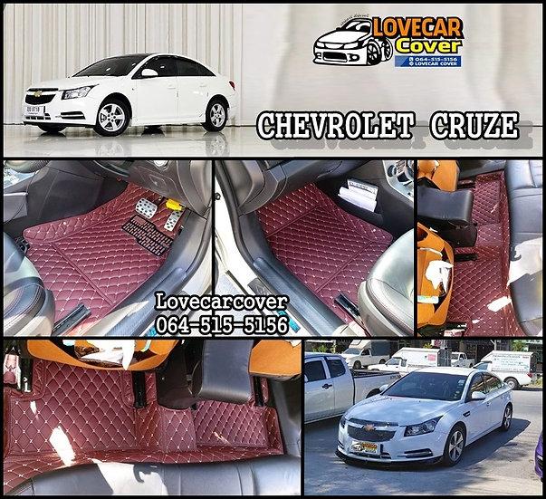 พรมรถยนต์ 6D สีแดงไวน์ Chevrolet Cruze
