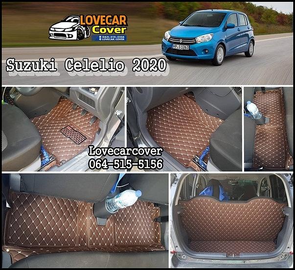 พรมรถยนต์ 6D สีกาแฟ Suzuki Celelio 2020