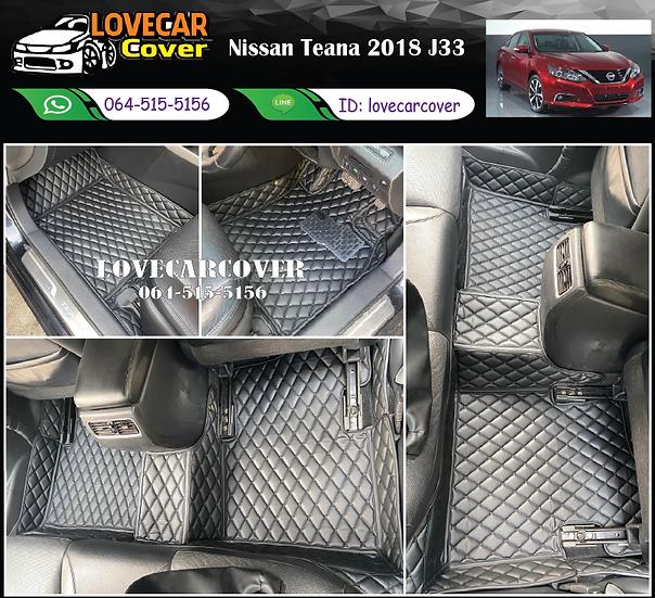 พรมรถยนต์ 6D สีดำล้วน Nissan Teana 2018 J33