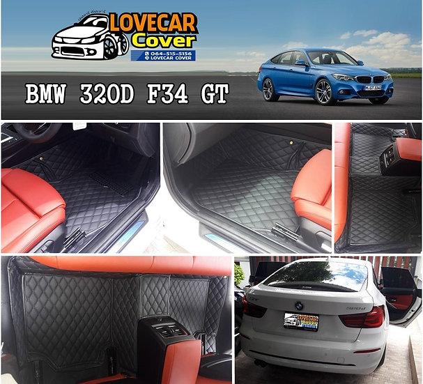 พรมปูพื้นรถยนต์ 6D สีดำล้วน Bmw 320d F34 Gt