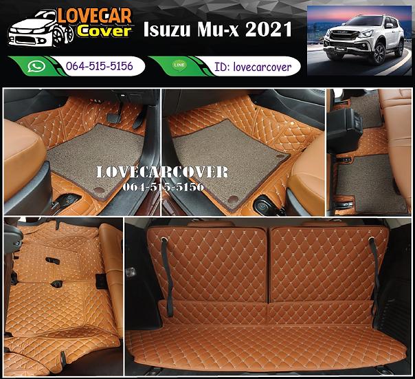 พรมรถยนต์ 7D สีน้ำตาลเข้ม+ไวนิลสีน้ำตาล Isuzu Mu-x 2021