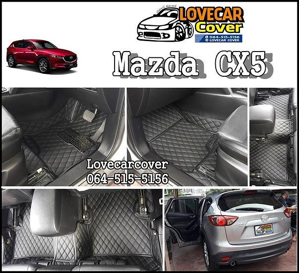 พรมรถยนต์ 6D สีดำล้วน Mazda CX5