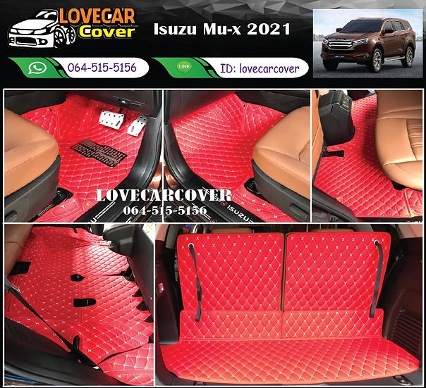 พรมรถยนต์ 6D สีแดงสด Isuzu Mu-x 2021