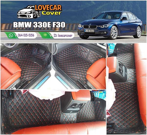พรมรถยนต์ 6D สีดำด้ายแดง BMW 330E F30
