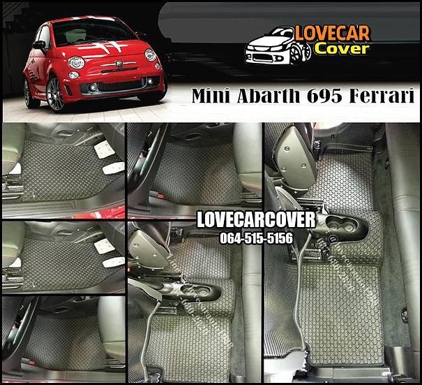 ผ้ายางกระดุมใหญ่ EVA สีดำ Mini Abarth 695 Ferrari