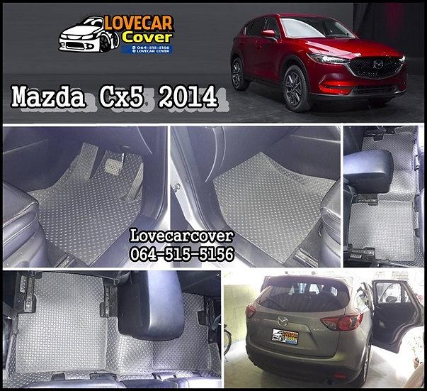 ผ้ายางกระดุมใหญ่ EVA สีเทา Mazda Cx5 2014