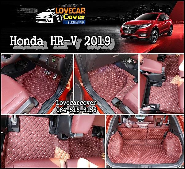 พรมรถยนต์ 6D สีแดงไวน์ Honda HR-V 2019