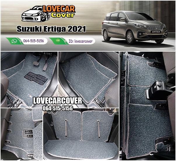 พรมดักฝุ่นรถยนต์ (พรมไวนิล) สีเทา Suzuki Ertiga 2021