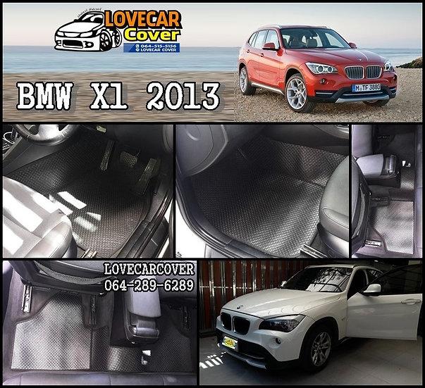 พรมกระดุมเล็ก PVC สีดำ BMW X1 2013