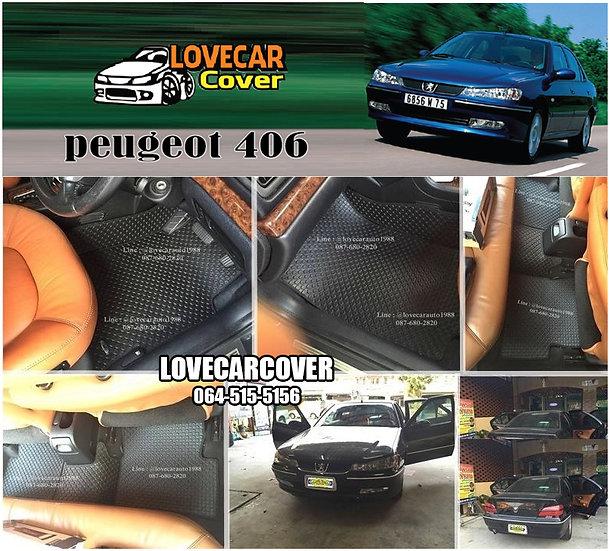 ผ้ายางกระดุมใหญ่ EVA สีดำล้วน Peugeot 406