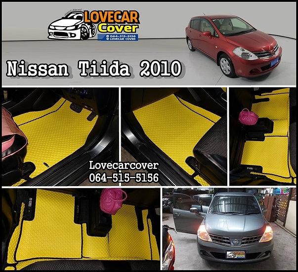 ผ้ายางกระดุมใหญ่ EVA สีเหลืองขอบดำ Nissan Tiida