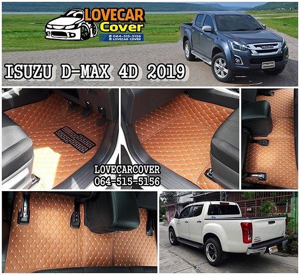 พรมปูพื้นรถยนต์ 6D สีน้ำตาลเข้ม ISUZU D-MAX 4D 2019