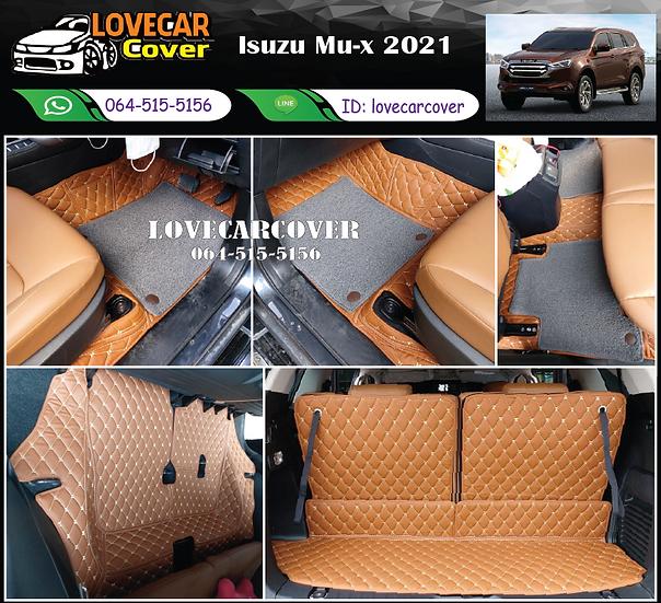 พรมรถยนต์ 7D สีน้ำตาลเข้ม+ไวนิลสีเทา Isuzu Mu-x 2021