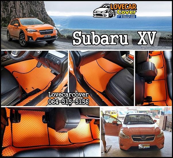 ผ้ายางกระดุมใหญ่ EVA สีส้มขอบดำ Subaru XV