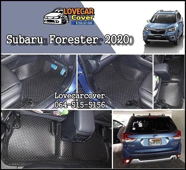 พรมกระดุมเล็ก PVC สีดำ Subaru Forester 2020