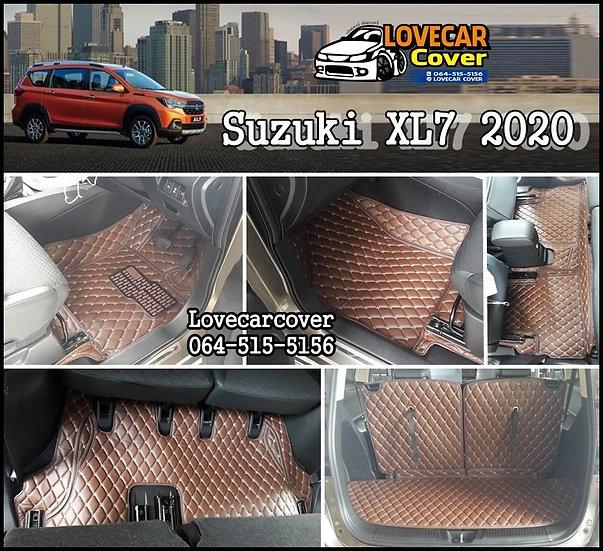 พรมรถยนต์ 6D สีกาแฟ Suzuki XL7 2020