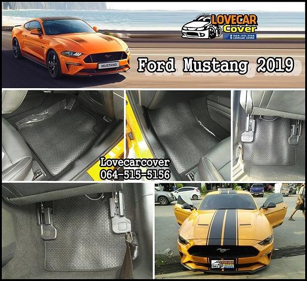 พรมกระดุมเล็ก PVC สีดำ Ford mustang 2019