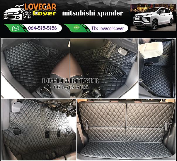 พรมรถยนต์ 6D สีดำล้วน Mitsubishi Xpander