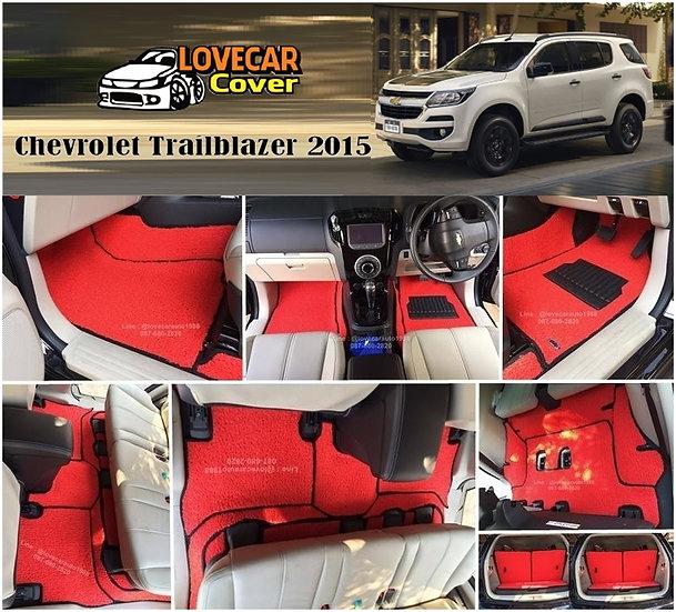 พรมดักฝุ่นรถยนต์ (พรมไวนิล) สีแดง Chevrolet Trailblazer 2015