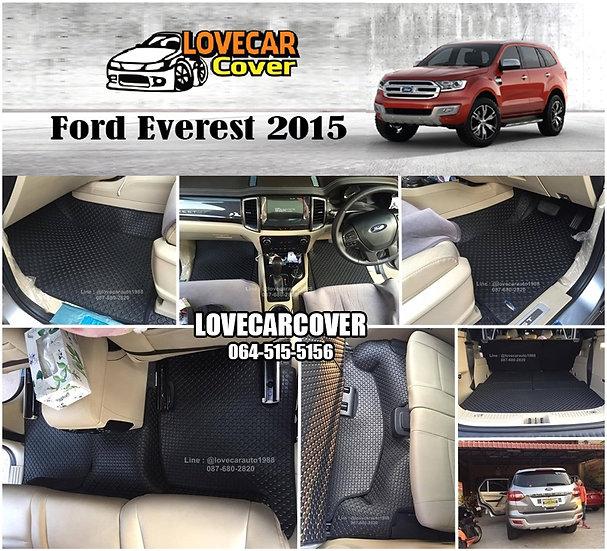ผ้ายางกระดุมใหญ่ EVA สีดำ Ford Everest 2015