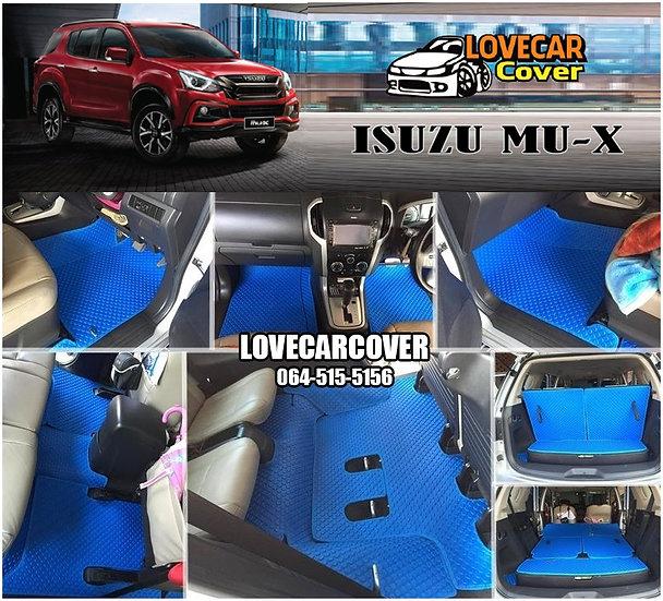ผ้ายางกระดุมใหญ่ EVA สีน้ำเงิน Isuzu Mu-x
