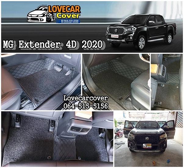 พรมรถยนต์ 7D สีดำล้วน + ไวนิลสีดำ MG Extender 4D 2020