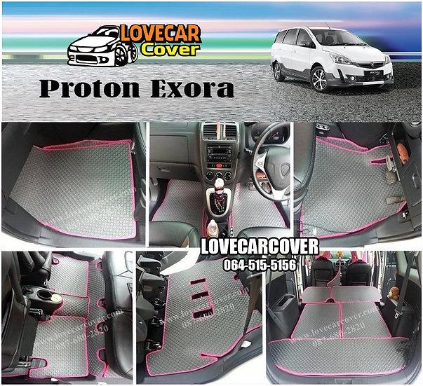 ผ้ายางกระดุมใหญ่ EVA สีเทาขอบสีชมพู Proton Exora