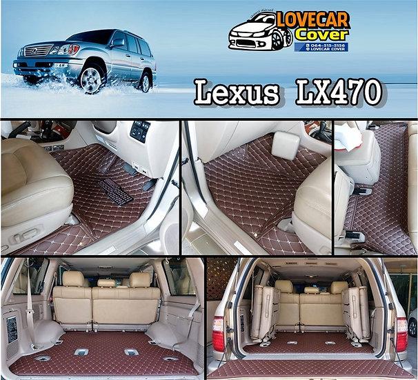 พรมปูพื้นรถยนต์ 6D สีกาแฟ Lexux LX470