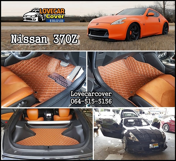 พรมปูพื้นรถยนต์ 6D สีน้ำตาลเข้ม Nissan 370Z