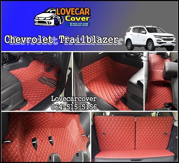 พรมรถยนต์ 6D สีแดงไวน์ Chevrolet Trailblazer