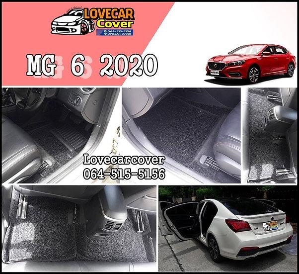 พรมไวนิลปูพื้นรถยนต์ สีดำ MG 6 2020