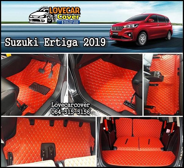 พรมรถยนต์ 6D สีแดงสด Suzuki Ertiga 2019